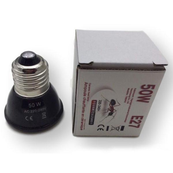 Mini-Ampoule Céramique chauffante 50w E27