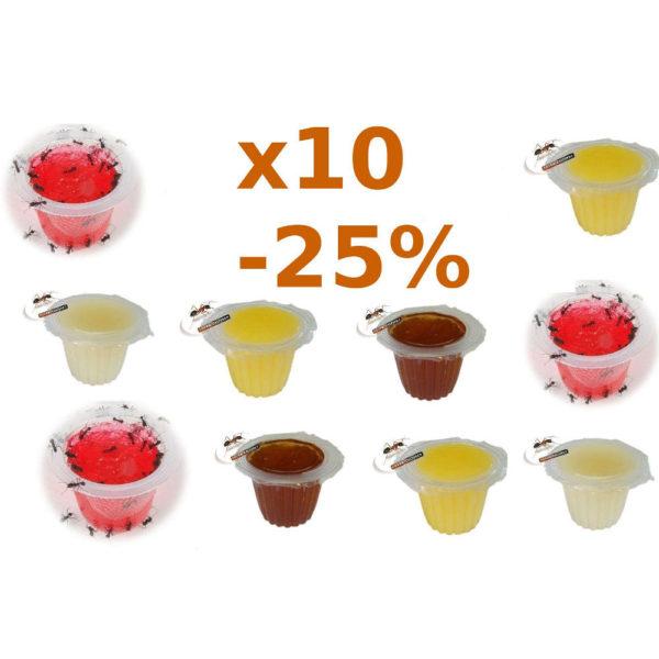 Gelées sucrées pour fourmis-Lot x10